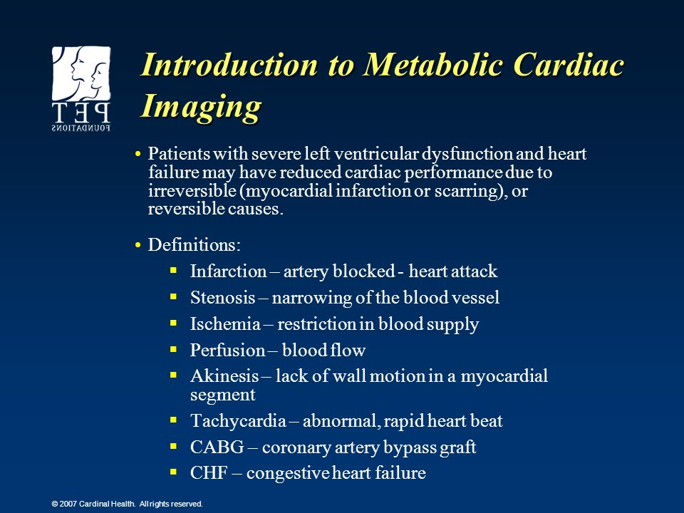 Introduction to Metabolic Cardiac Imaging