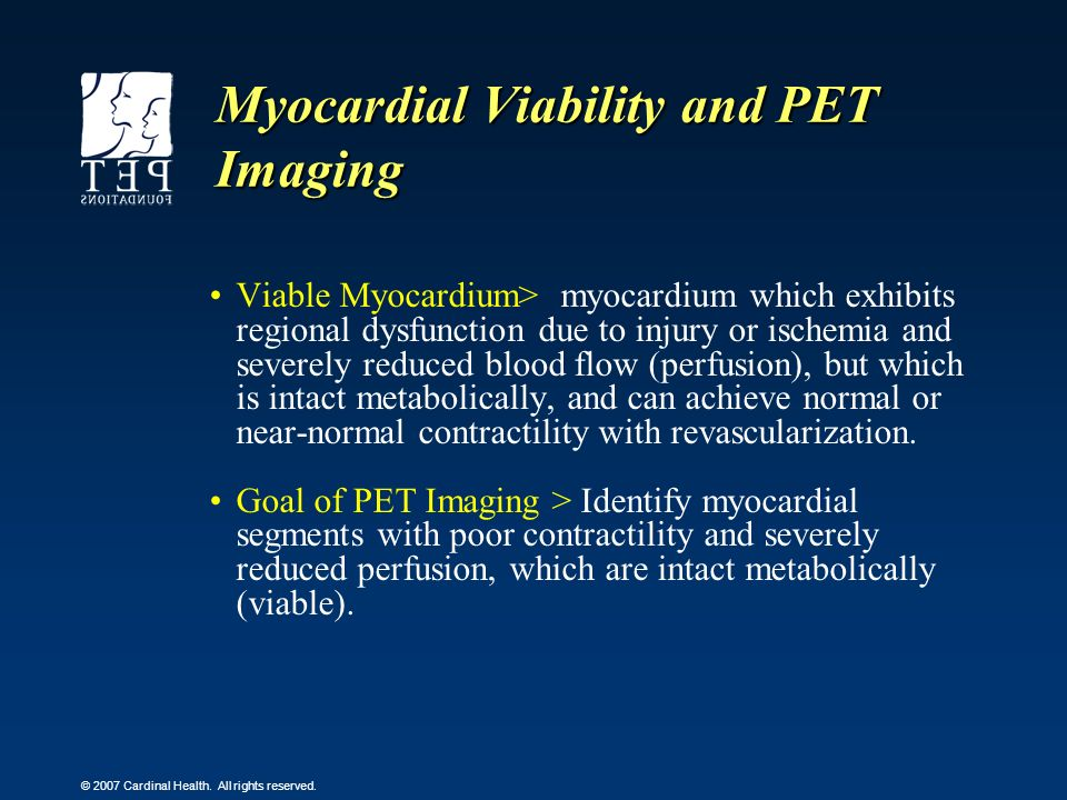 Myocardial Viability and PET Imaging