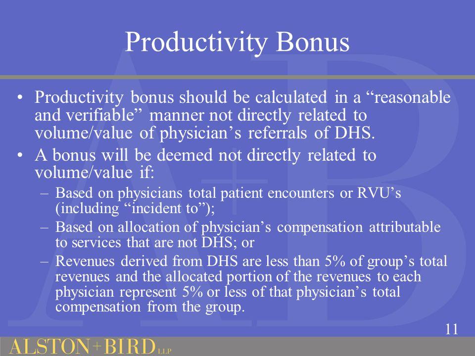 Productivity Bonus