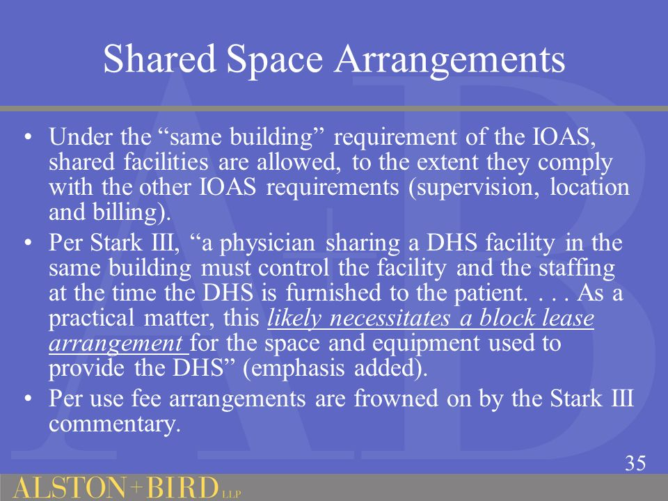 Shared Space Arrangements