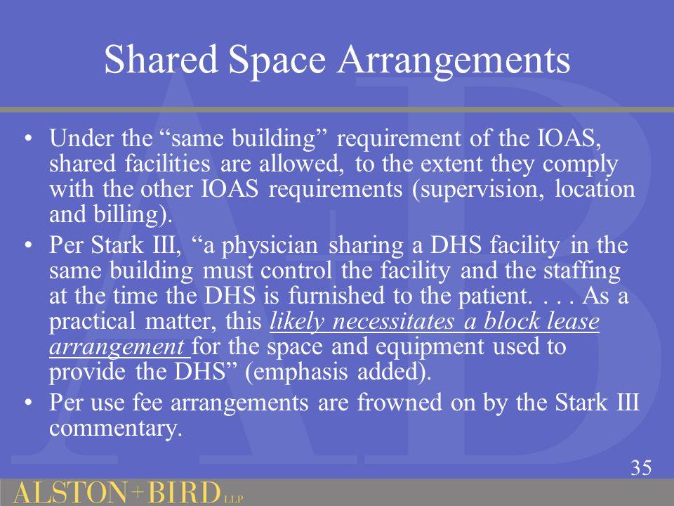 Shared Space Arrangements