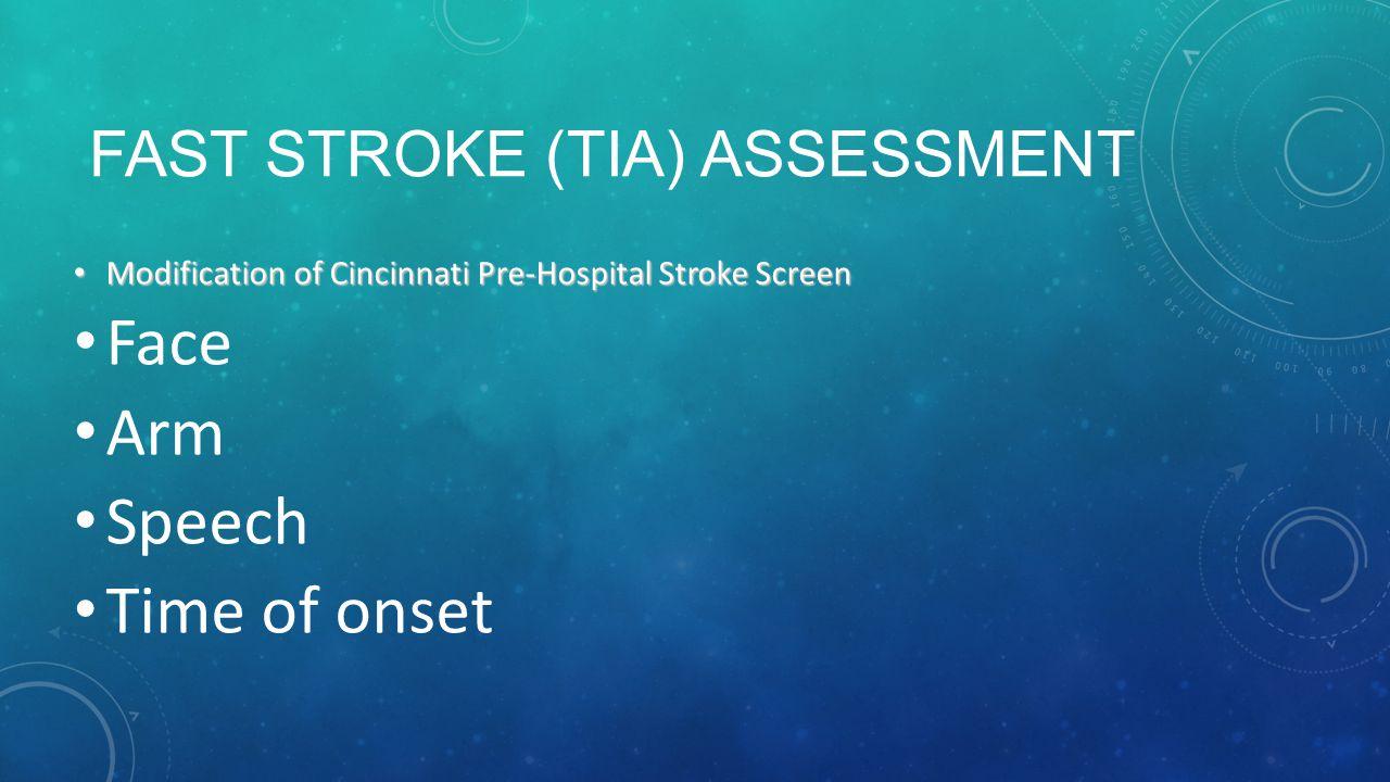 FAST Stroke (TIA) Assessment