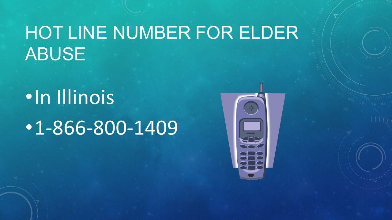 Hot Line Number for Elder Abuse