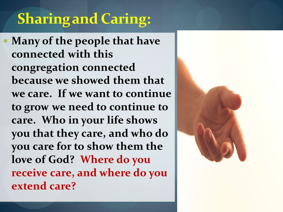 Sharing and Caring: