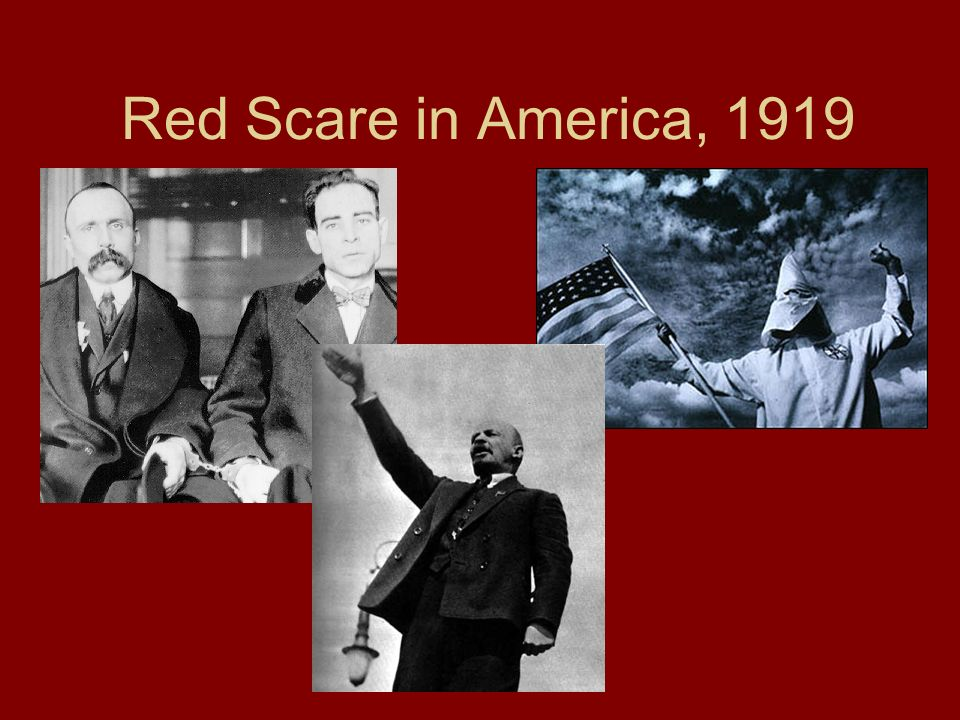 Red Scare in America, 1919