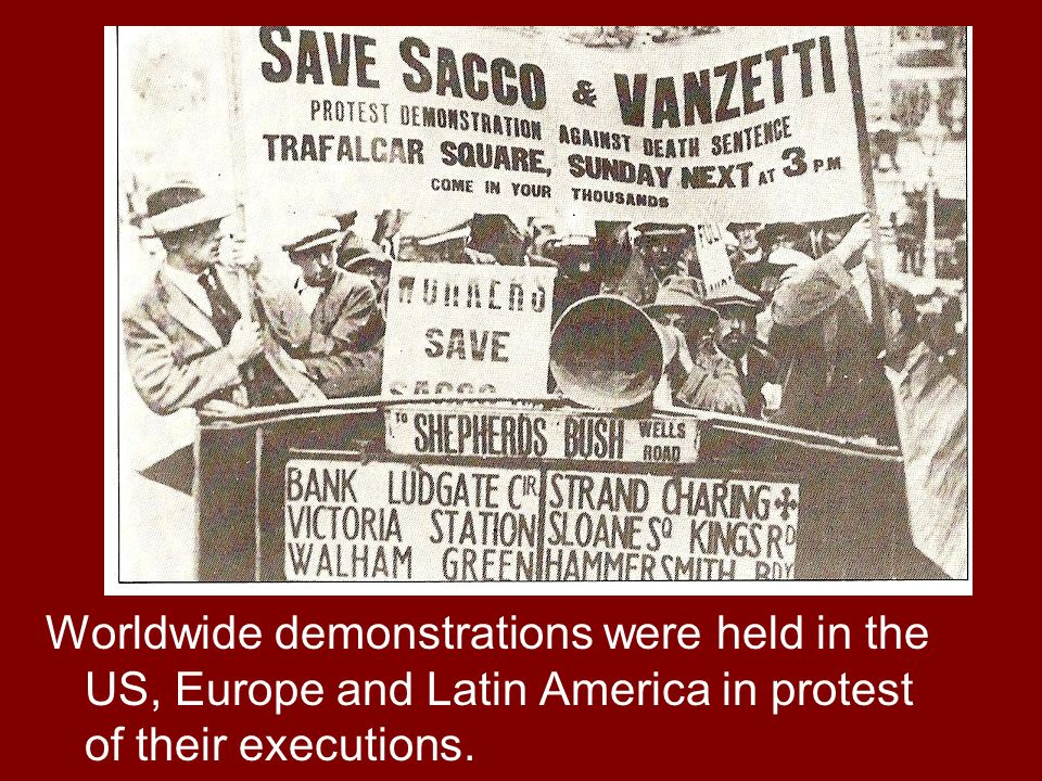 Worldwide demonstrations were held in the US, Europe and Latin America in protest of their executions.