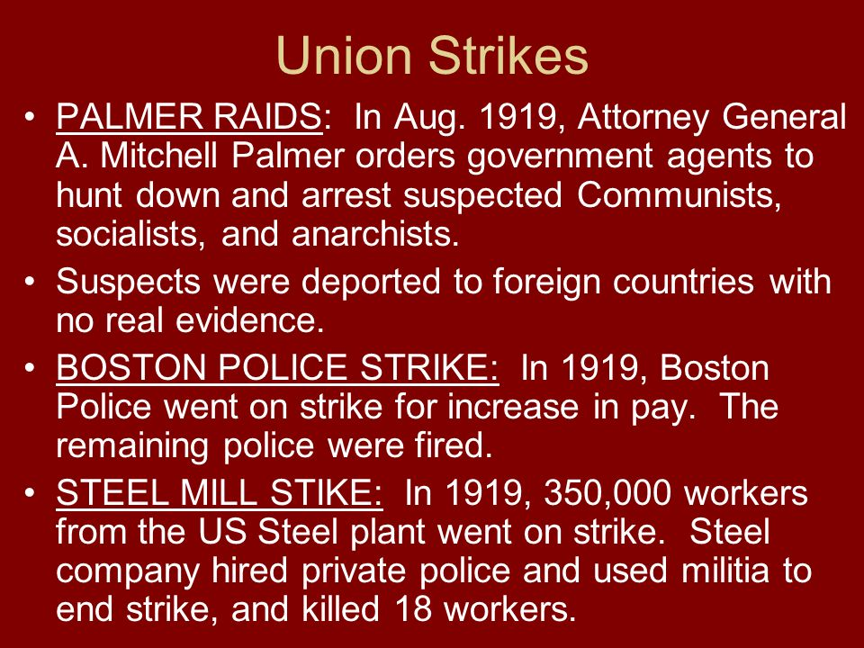 Union Strikes