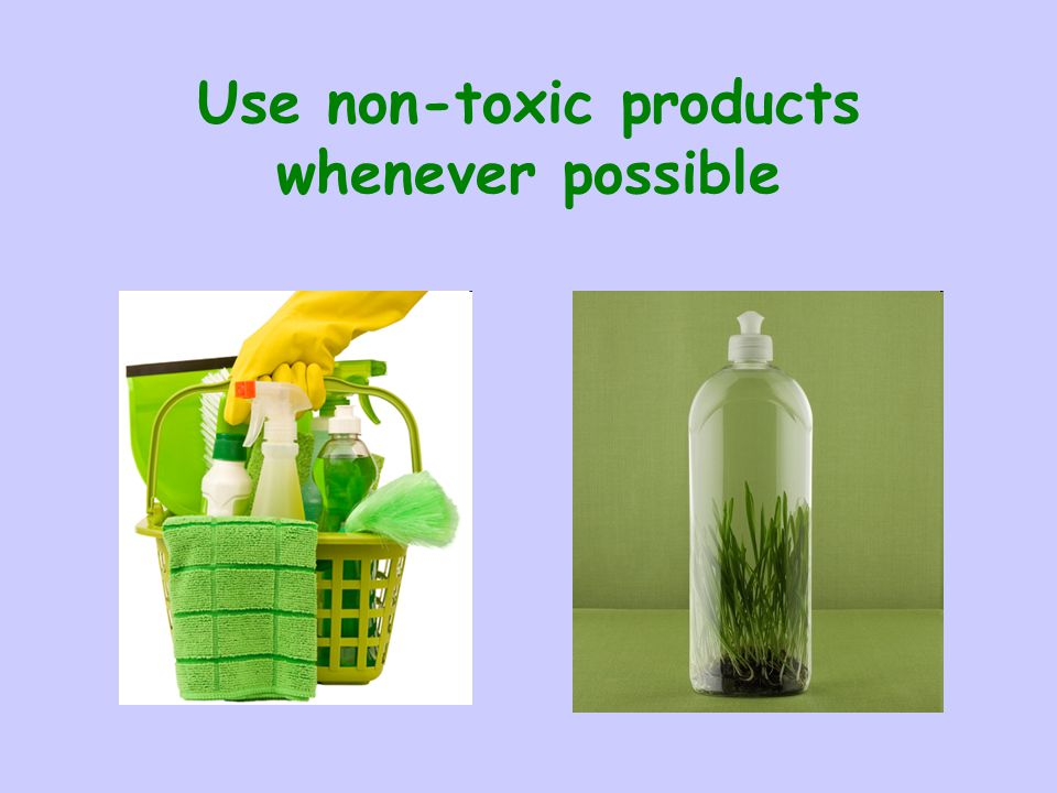 Use non-toxic products whenever possible