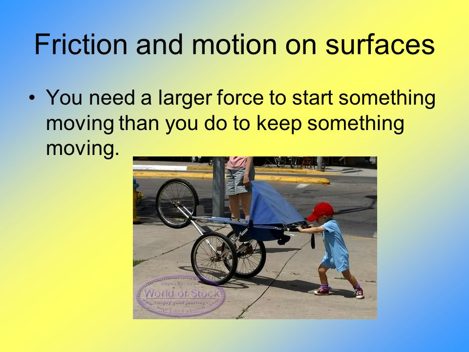 Friction and motion on surfaces