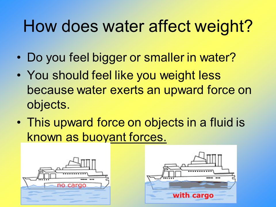How does water affect weight