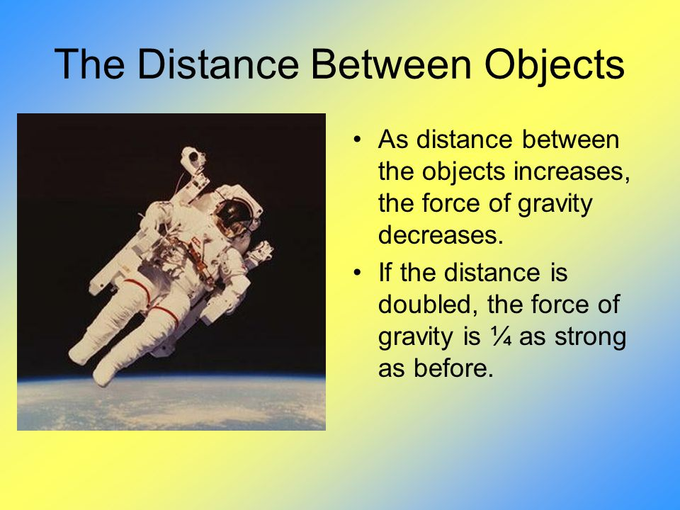 The Distance Between Objects