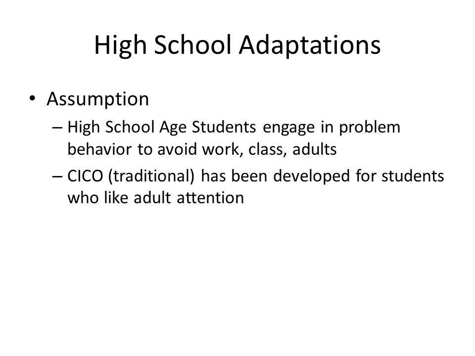 High School Adaptations