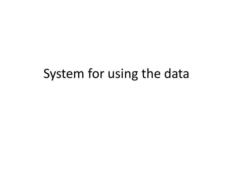 System for using the data