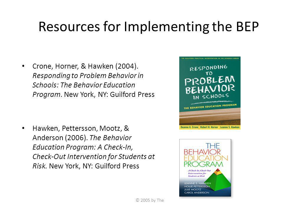 Resources for Implementing the BEP