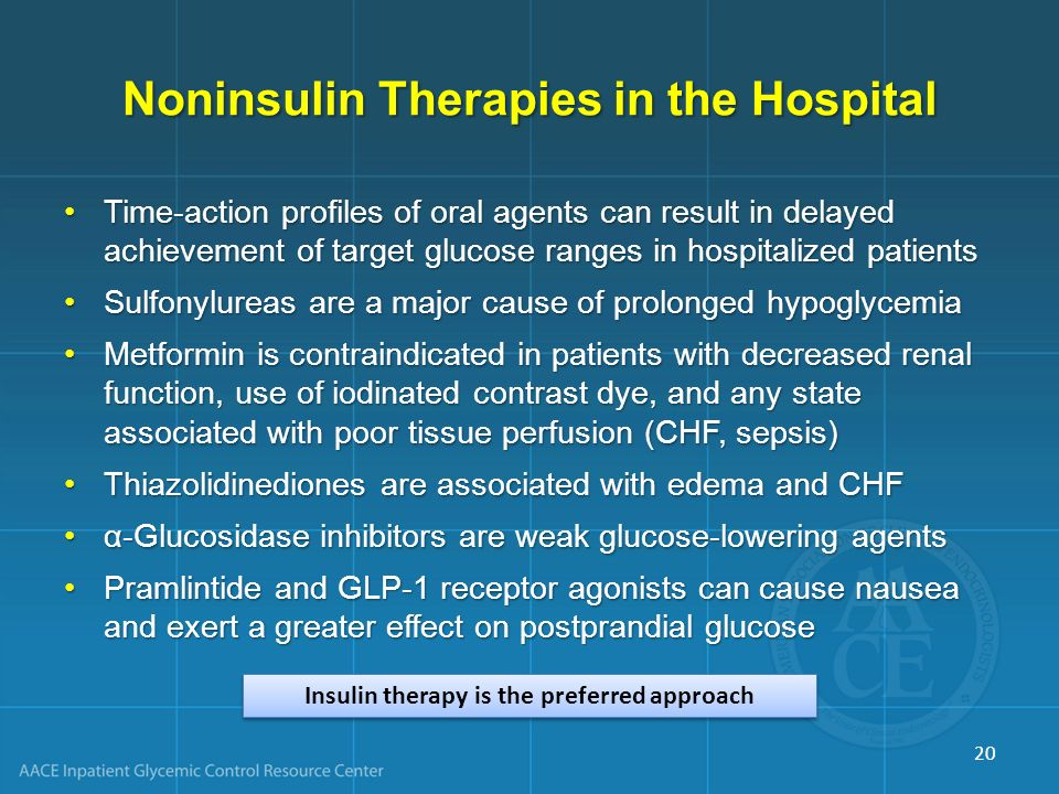 Noninsulin Therapies in the Hospital
