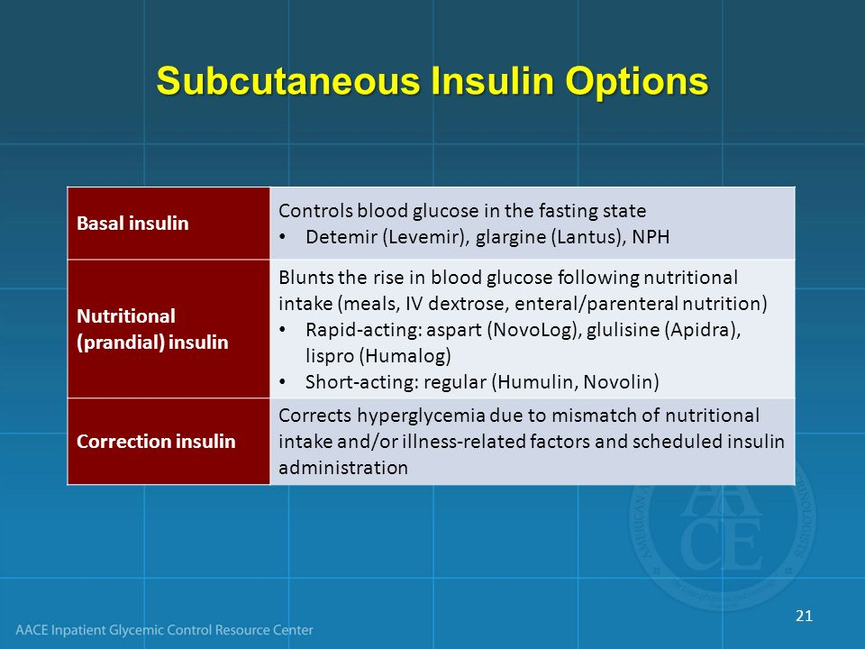 Subcutaneous Insulin Options