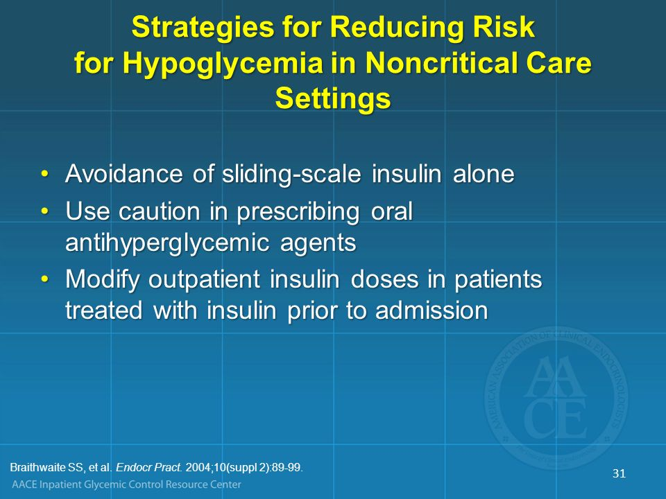 Strategies for Reducing Risk for Hypoglycemia in Noncritical Care Settings