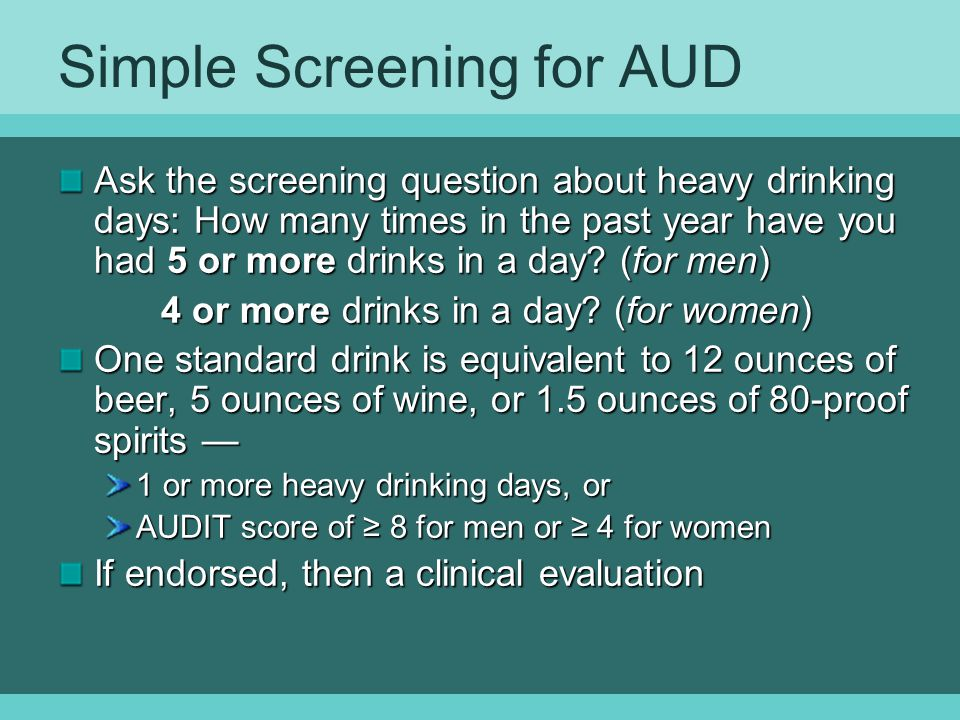 Simple Screening for AUD