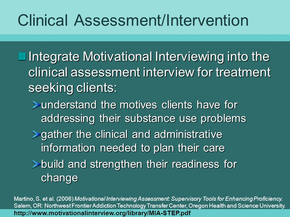 Clinical Assessment/Intervention