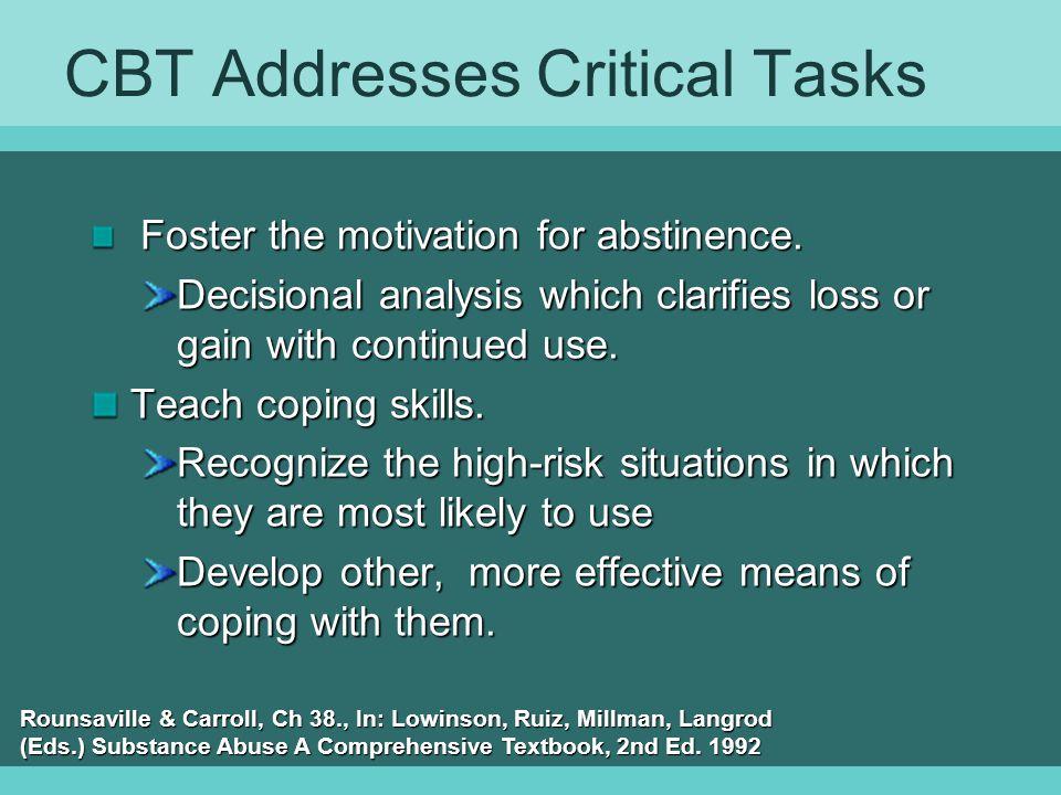 CBT Addresses Critical Tasks