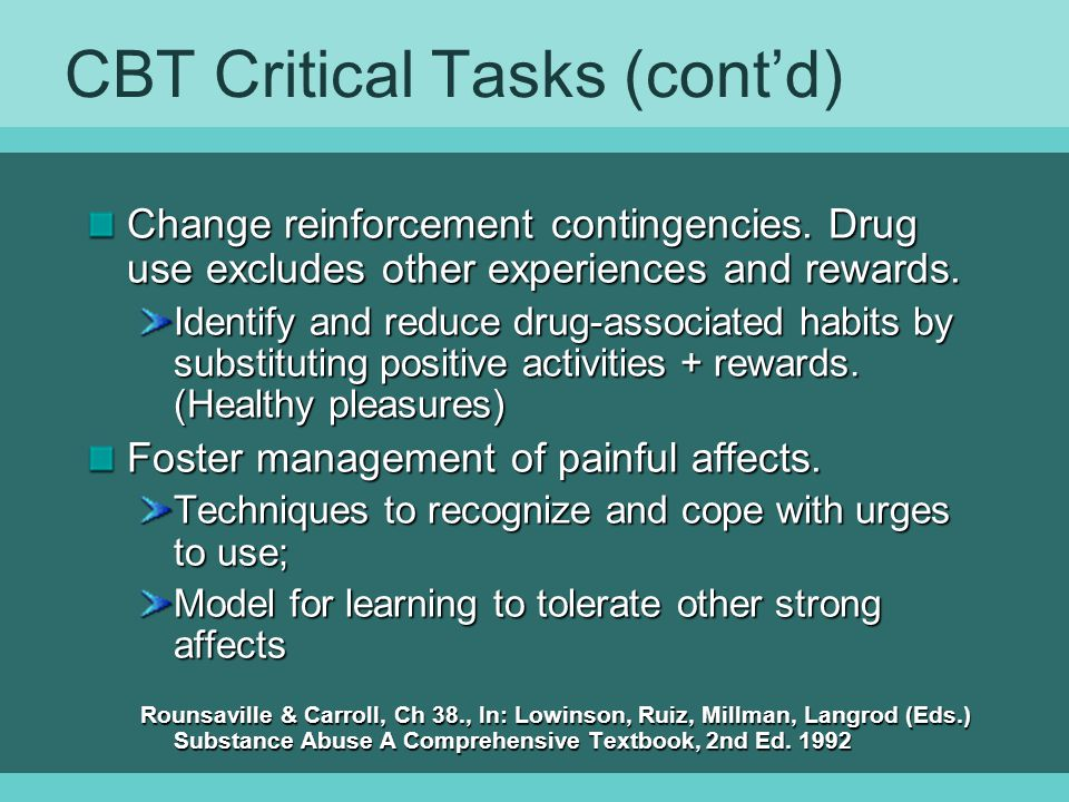 CBT Critical Tasks (cont'd)