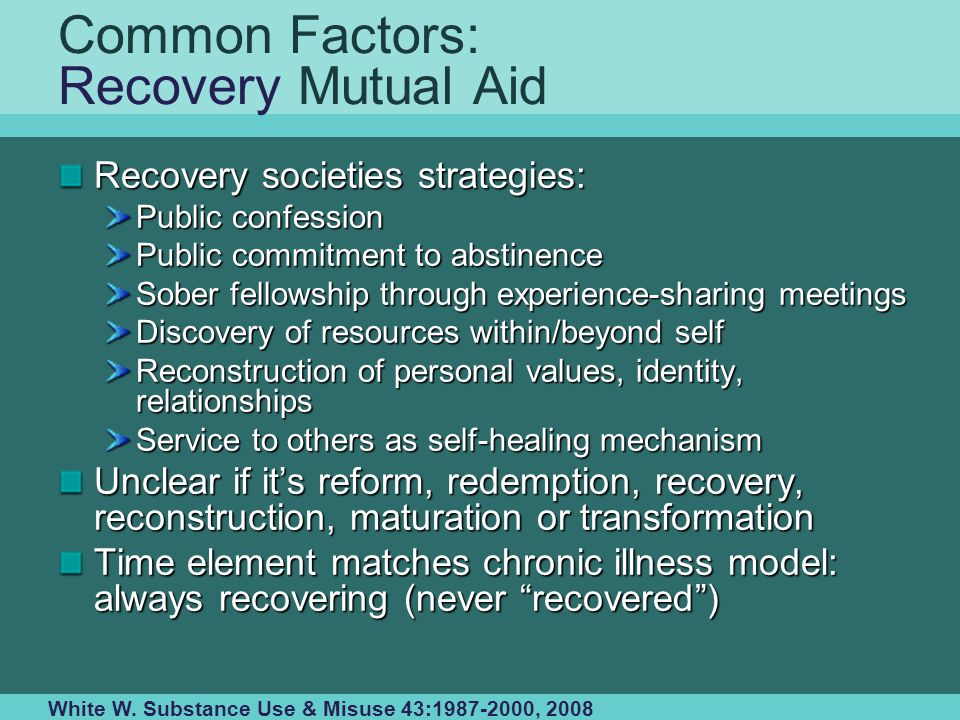 Common Factors: Recovery Mutual Aid