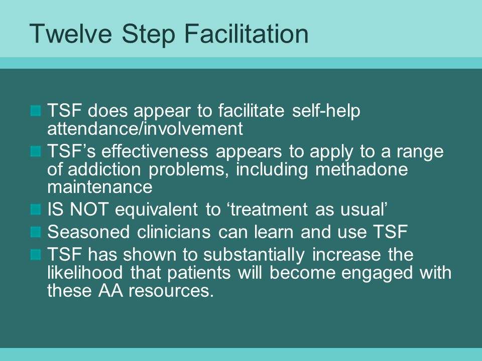 Twelve Step Facilitation