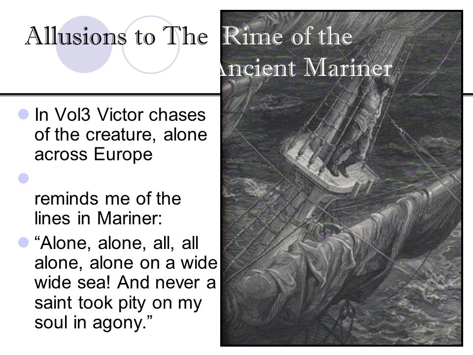 Allusions to The Rime of the Ancient Mariner
