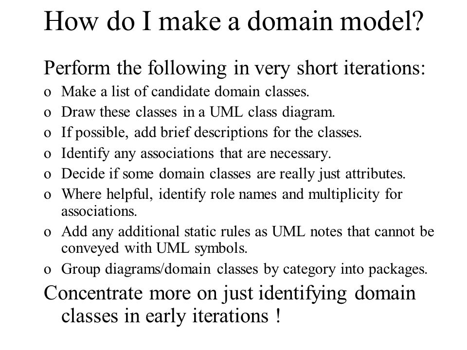 How do I make a domain model