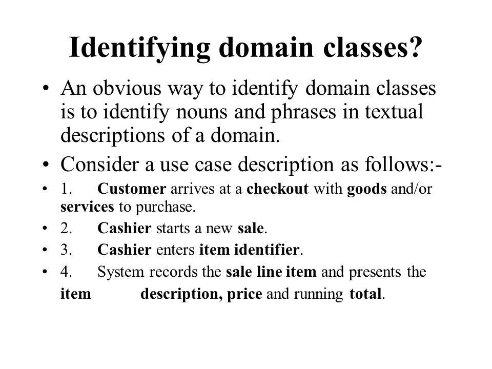 Identifying domain classes