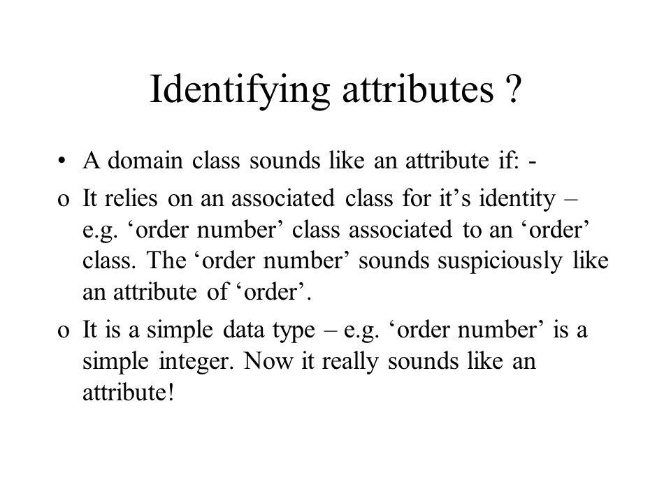 Identifying attributes