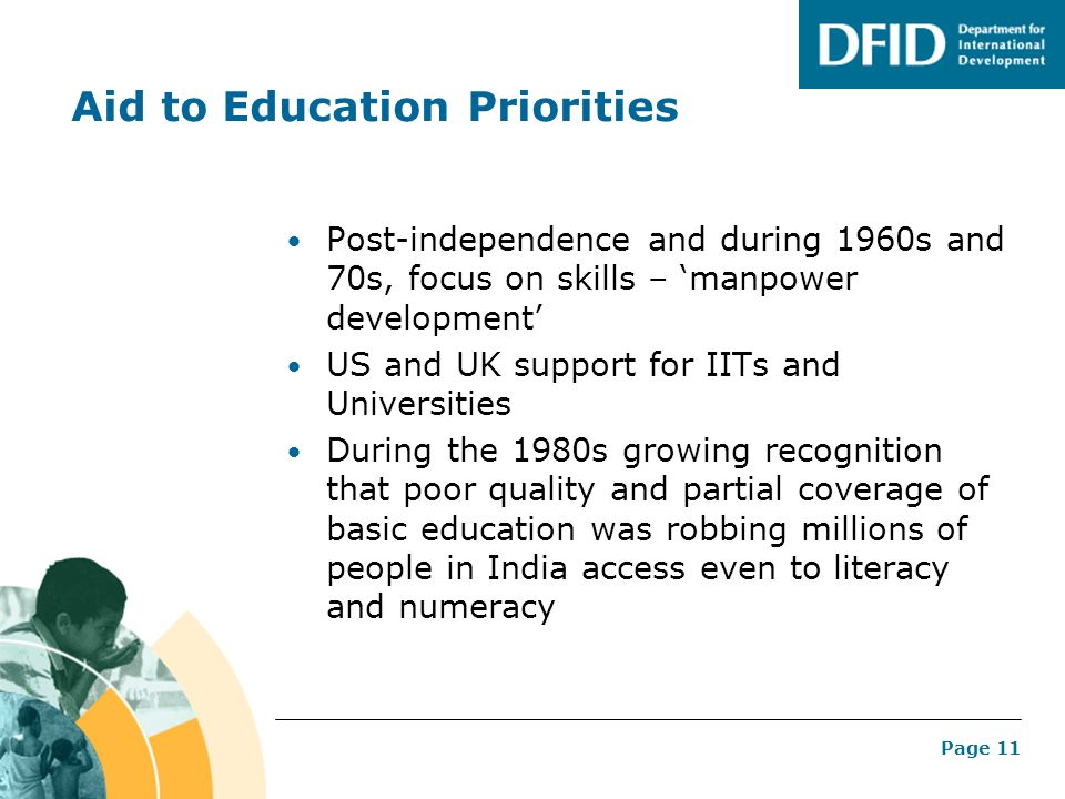 Aid to Education Priorities