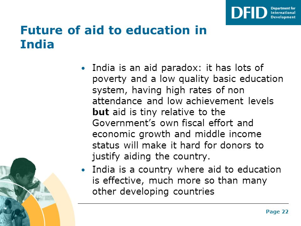Future of aid to education in India