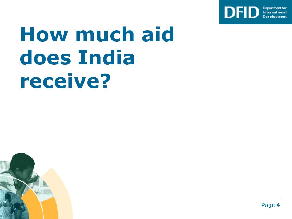 How much aid does India receive