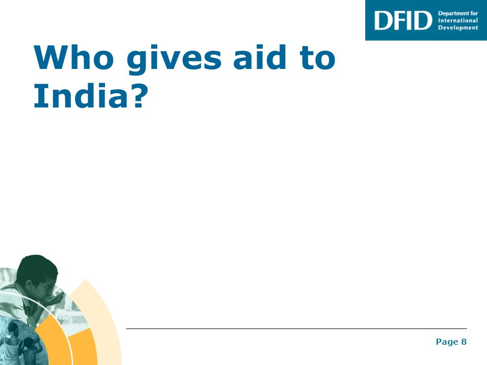 Who gives aid to India