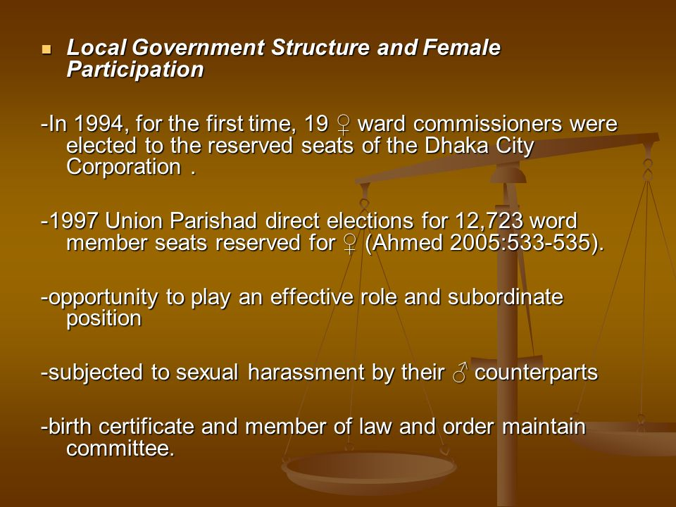Local Government Structure and Female Participation