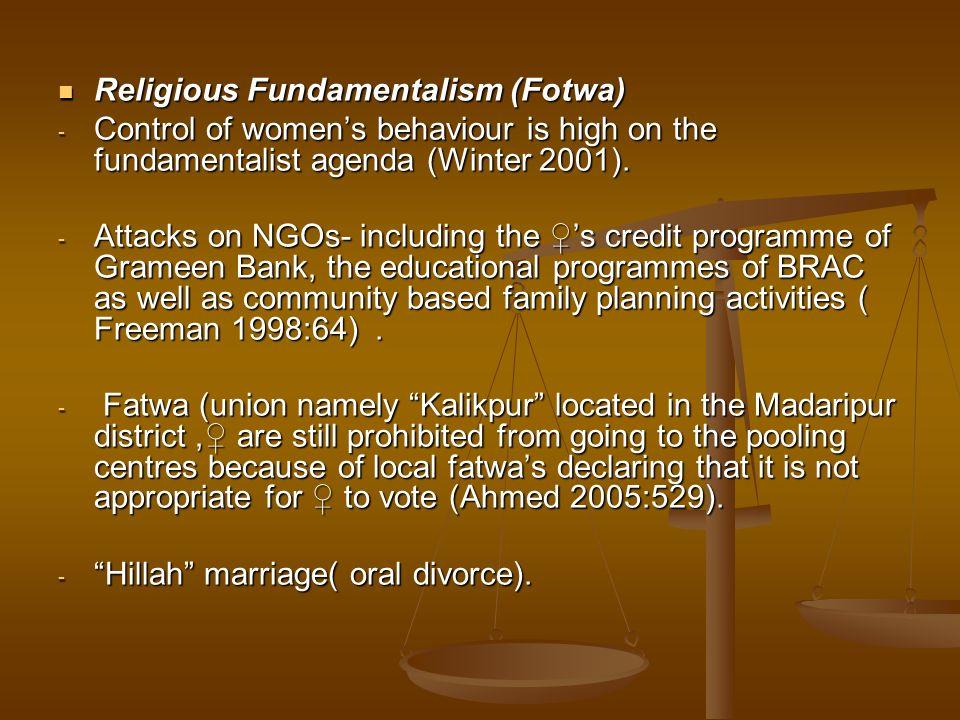 Religious Fundamentalism (Fotwa)