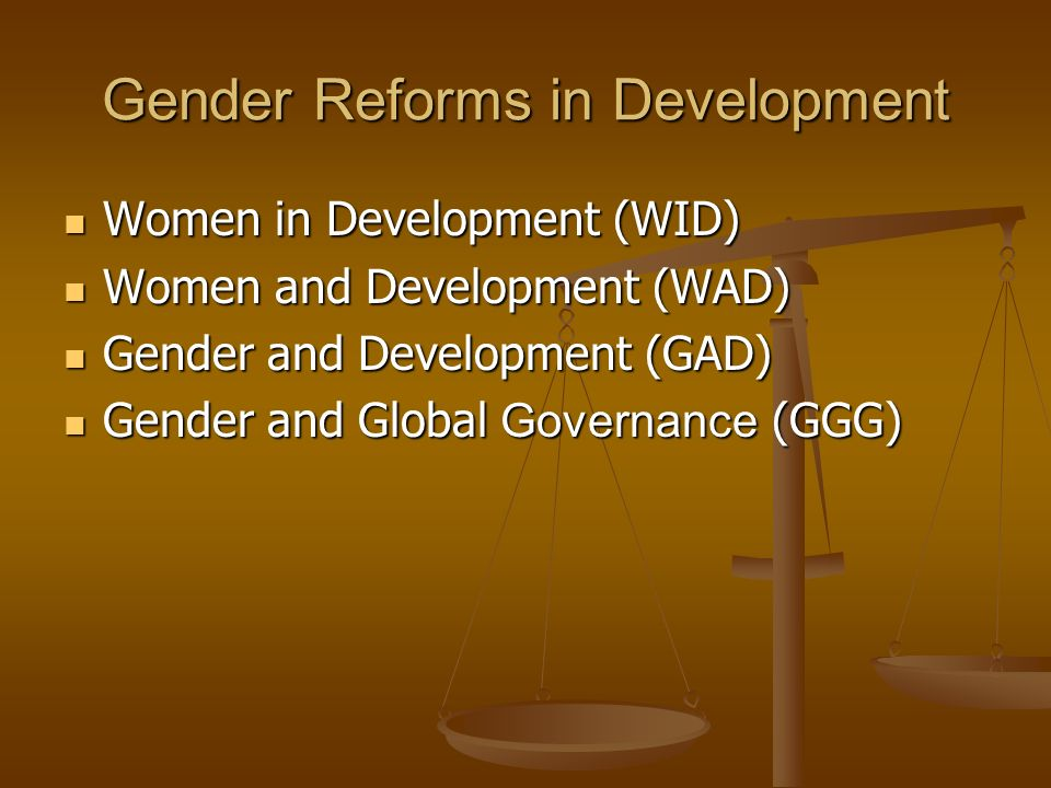 Gender Reforms in Development