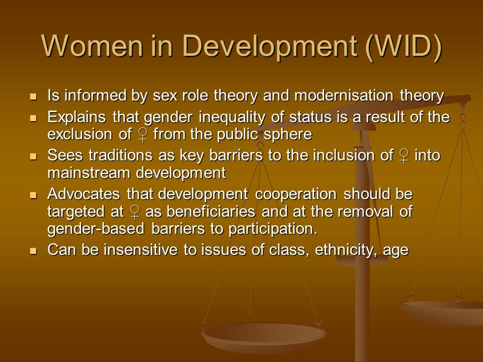 Women in Development (WID)