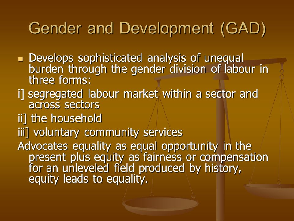 Gender and Development (GAD)