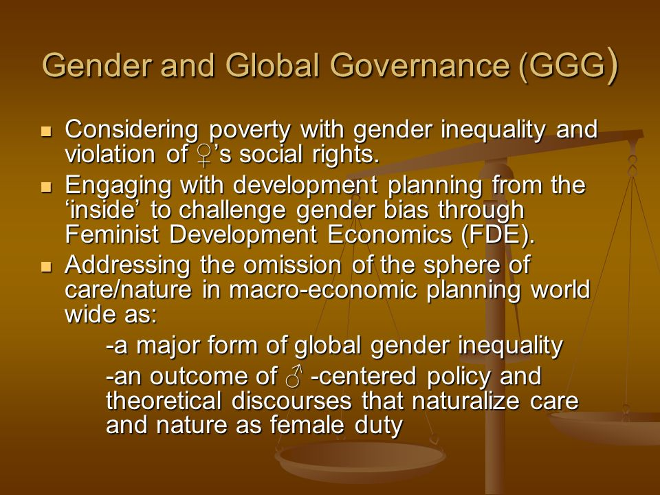 Gender and Global Governance (GGG)