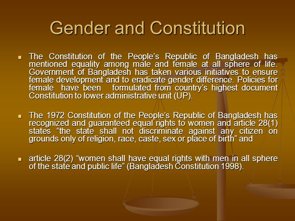 Gender and Constitution