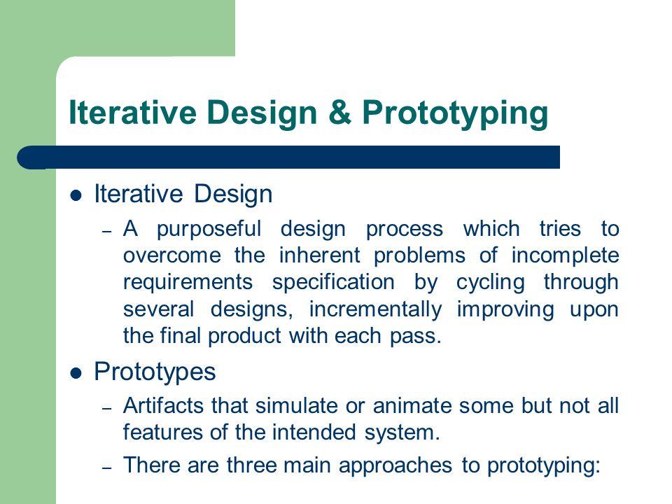 Iterative Design & Prototyping