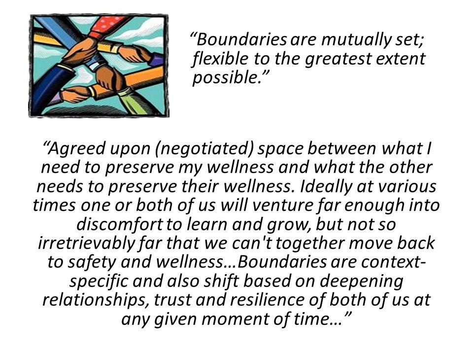 Boundaries are mutually set;