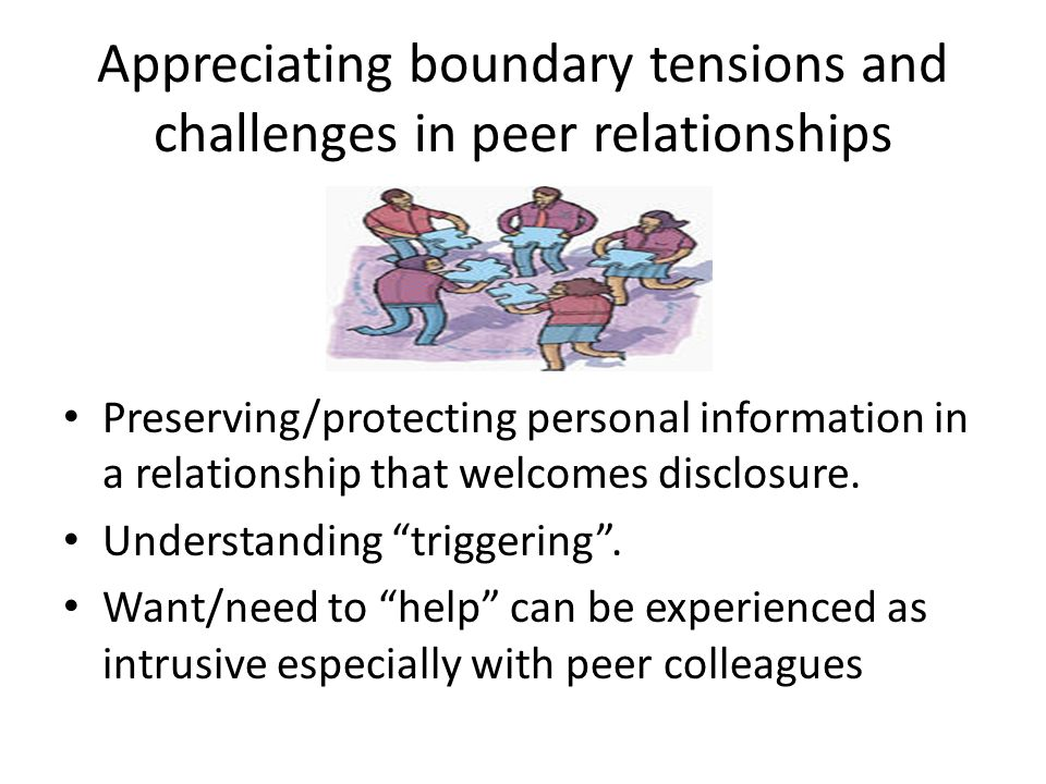 Appreciating boundary tensions and challenges in peer relationships
