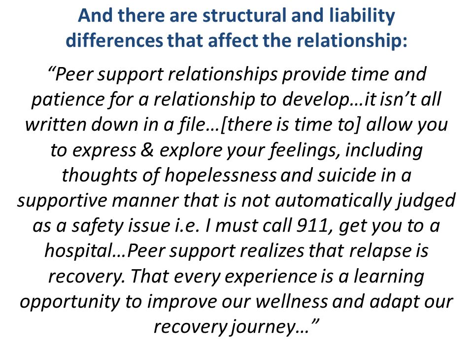 And there are structural and liability differences that affect the relationship: