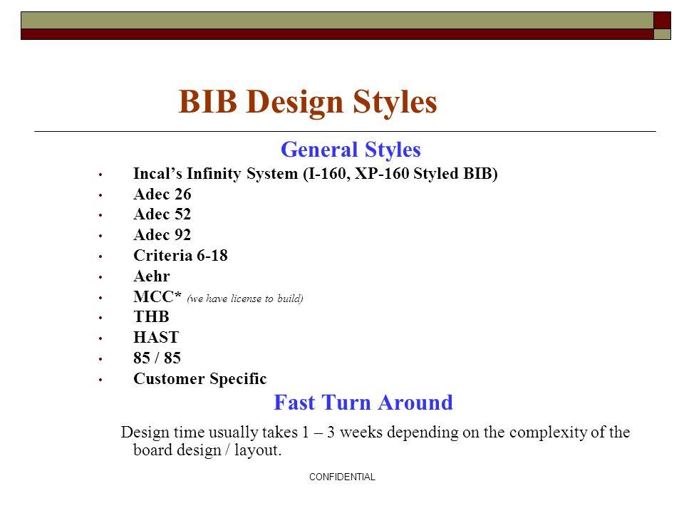 BIB Design Styles General Styles