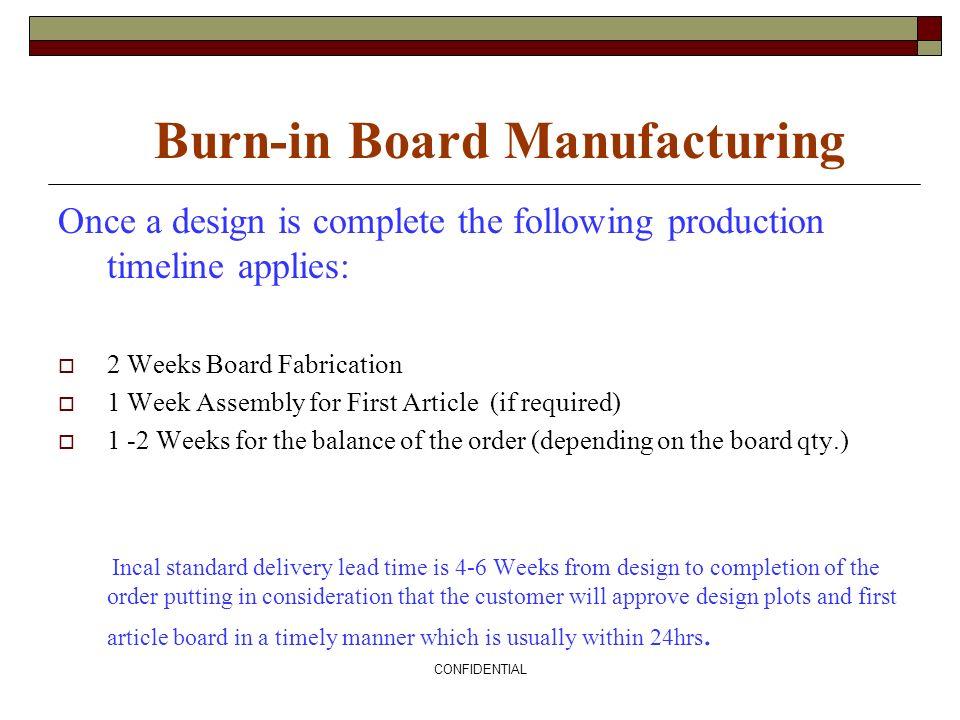 Burn-in Board Manufacturing