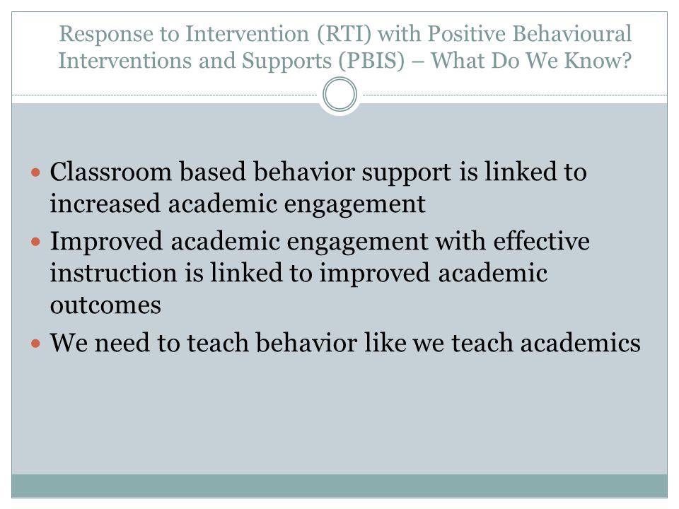 We need to teach behavior like we teach academics