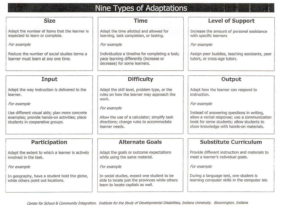 Nine Types of Adaptation